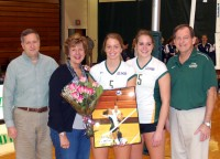 vballseniorday Kelli Willets